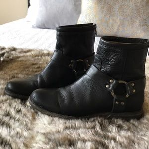 Frye Phillip Harness Ankle Boots sz 6-1/2 B